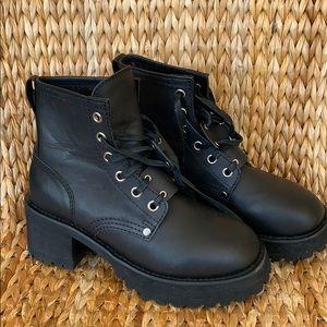 NIB UNIF Dedi Black Leather Boots 9M